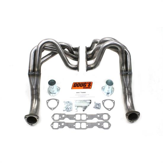 Doug's Headers D329-R Full Length Header, 1-3/4 In,62-67 Chevy II, Raw