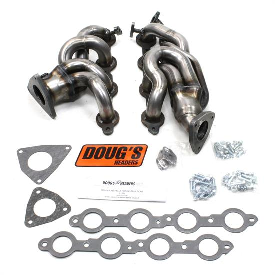 Doug's Headers D3327-R 4-Tube Header, 1-5/8 In, 98-99 Camaro, Raw