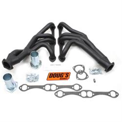 Doug's Headers D357Y-B Tri-Y Header, 1-5/8 In, 55-57 Chevy, Blk