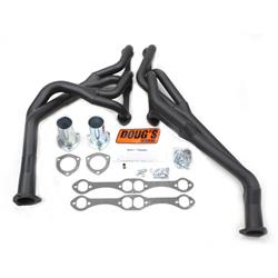 Doug's Headers D376Y-B Tri-Y Header, 1-5/8 In, 67-74 Chevelle, Blk