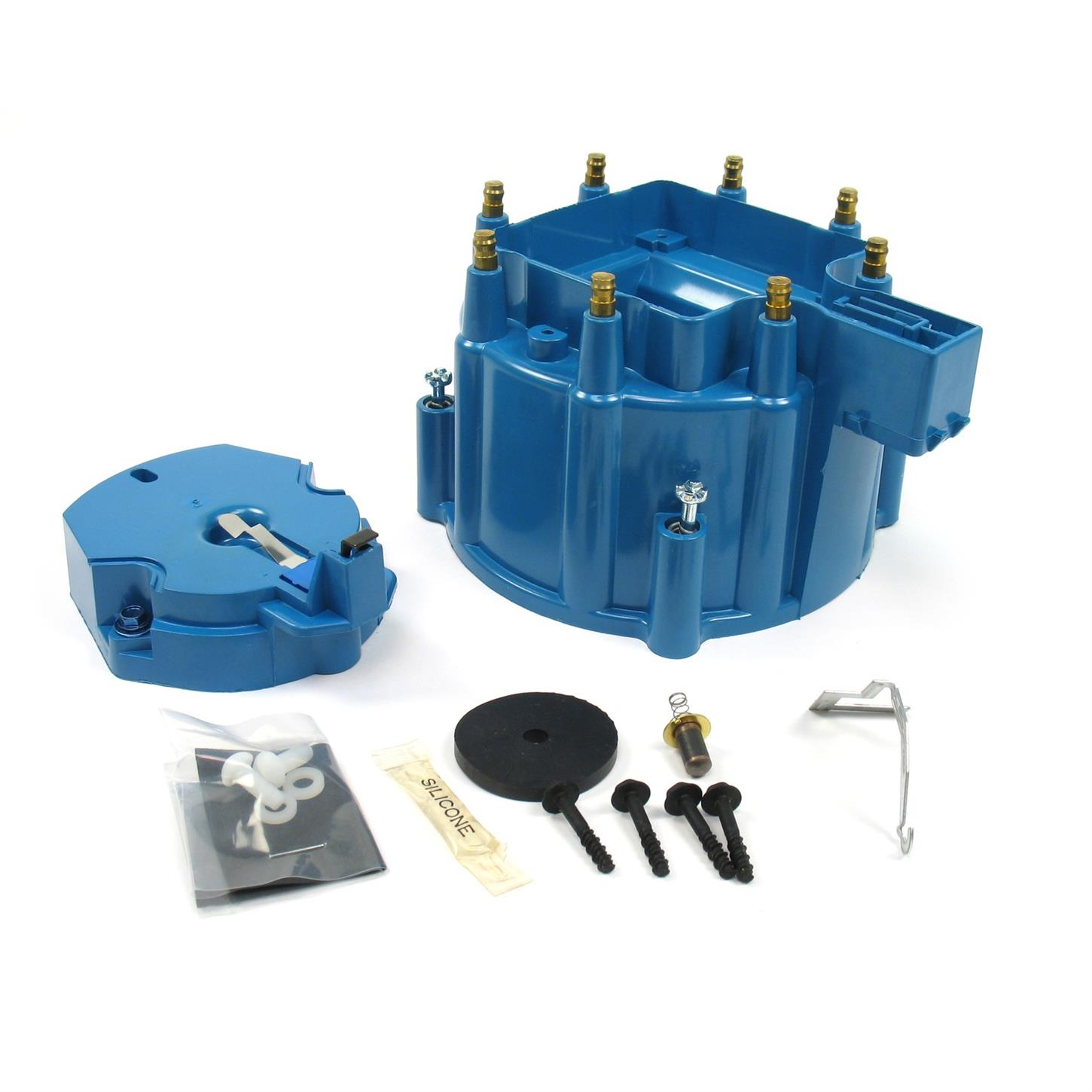 PerTronix D4002 Flame-Thrower HEI Distributor Cap and Rotor Kit Blue