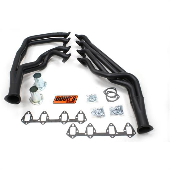 Doug's Headers D625-B Full Length Header 1-3/4 In, 64-73 Fairlane, Blk