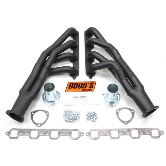 Doug's Headers D669Y-1B Tri-Y Header, 1-3/4 In, 67-70 Mustang, Blk