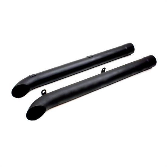 Doug's Headers D930-B Side Pipes, Corvette, Sidemount, Black