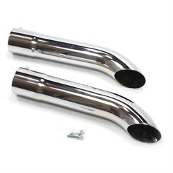 Patriot Exhaust H3818 Side Tubes Turnout Muffler Chrome, 20 Inch