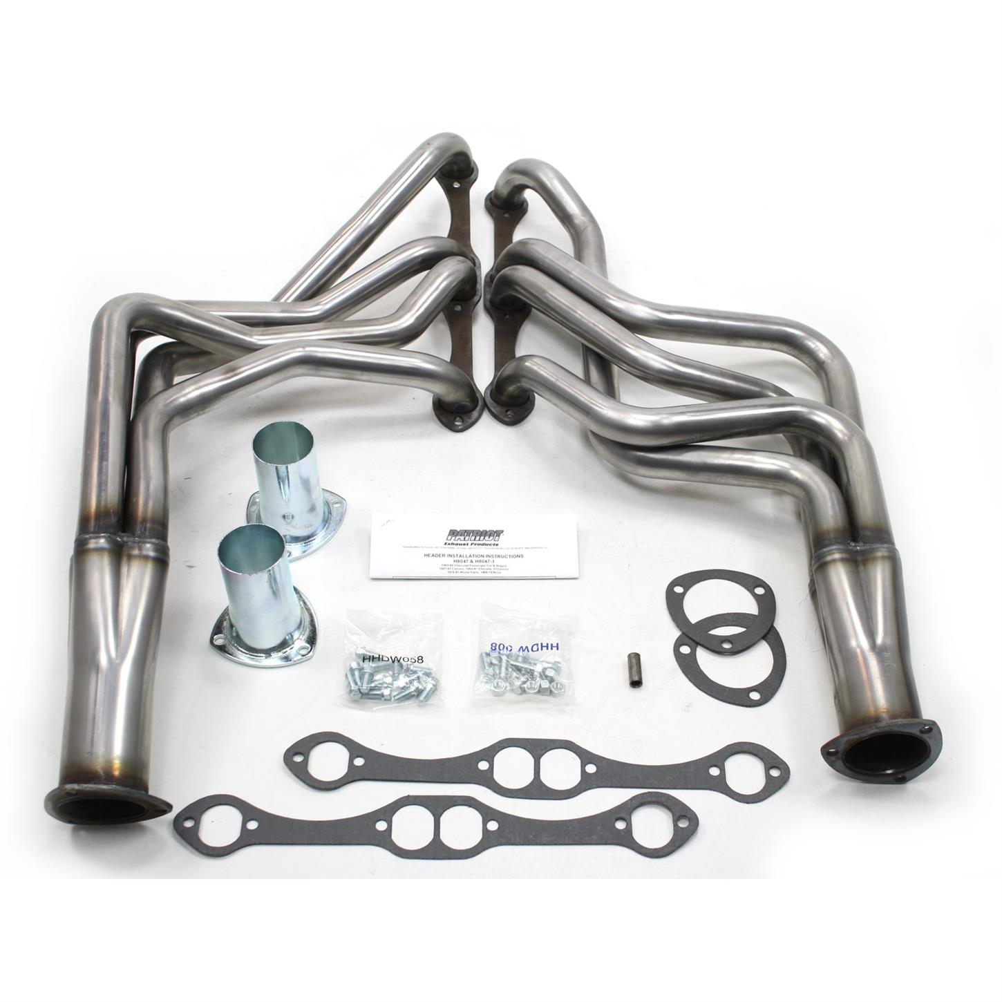 Patriot Set of 2 Headers New for Chevy Chevrolet Camaro Malibu Monte H8021