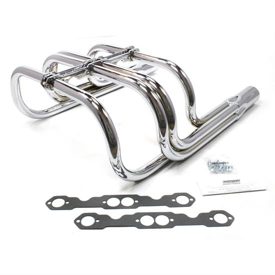 Patriot Exhaust H8060 Roadster Header, Street Rod, T-Bucket, Chrome