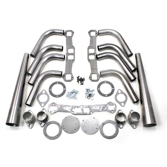 Patriot Exhaust H8075 Header Lakester Weld-up Kit, Chevy