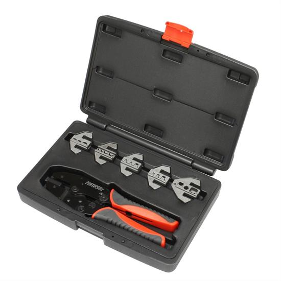 PerTronix T3001 Quick Change 6 Piece Ratchet Crimp Tool Kit