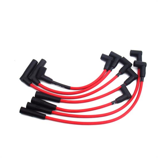 JBA W0526 Ignition Wires, 91-00 Jeep 4.0L Red