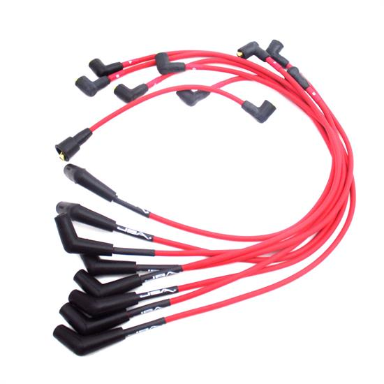 JBA PerFormance Exhaust W0650 Ignition Wires, Ford 289/302/351 Red