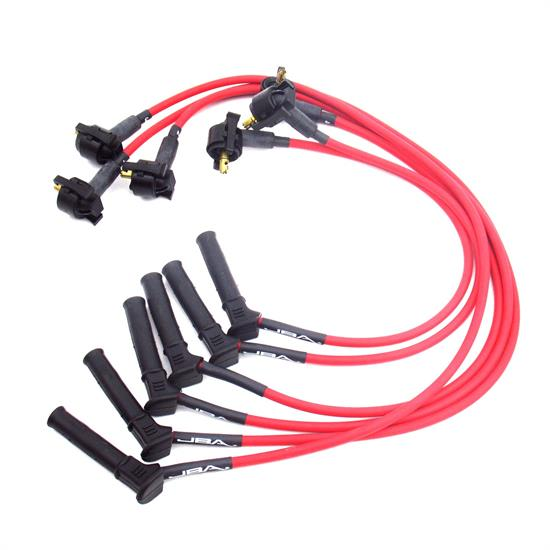 JBA PerFormance Exhaust W0675 Ignition Wires, 01-10 Ford Red