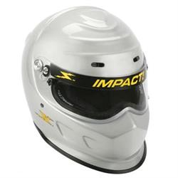 Impact Racing SA10 Champ Helmet-Silver XL, Snell 2010 SFI/FIA Approved