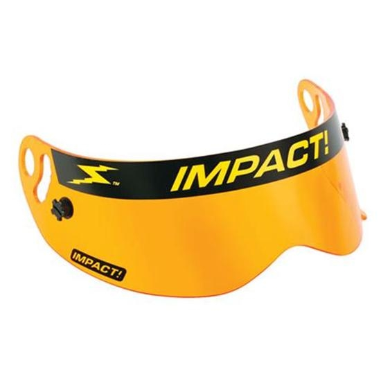 Impact Racing 13100904 Shield for Champ Helmets, Amber