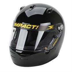 Impact Racing Super Sport SA10  Helmet, Silver, Medium, Chinbar Vents