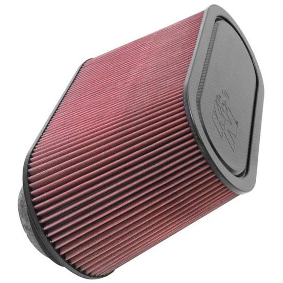 K&N 100-8521 High-Flow Race Air Filter, Oval, 9 Inch Height, Each