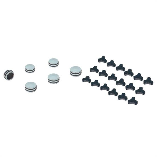 Spectre 14085 Billet O-Ring Bolt Caps, 1/2 Inch, 12-13mm