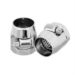 Spectre 2268 Magna Clamp Hose Clamps, Chrome, 0.719 ID