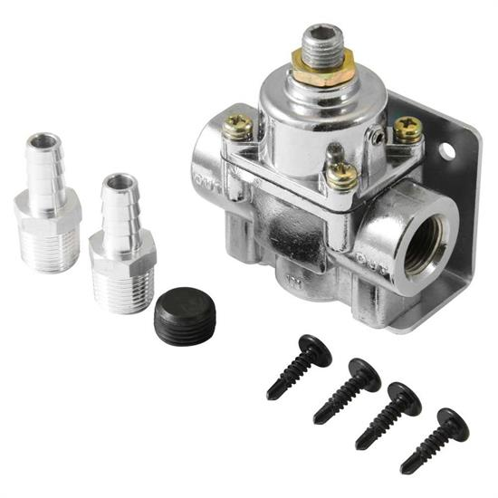 Spectre 2518 Fuel Pressure Regulator, Inline, 1-4 PSI, Each