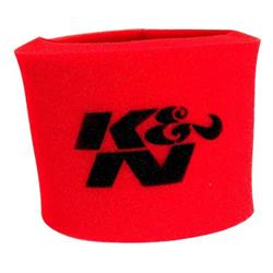 K&N 25-3340 Airforce Air Filter Foam Wrap, 3.25in Tall, Red