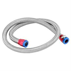 Spectre 29490 Braided Stainless Steel-Flex Fuel Line, 3/8 Inch x 3 Ft.
