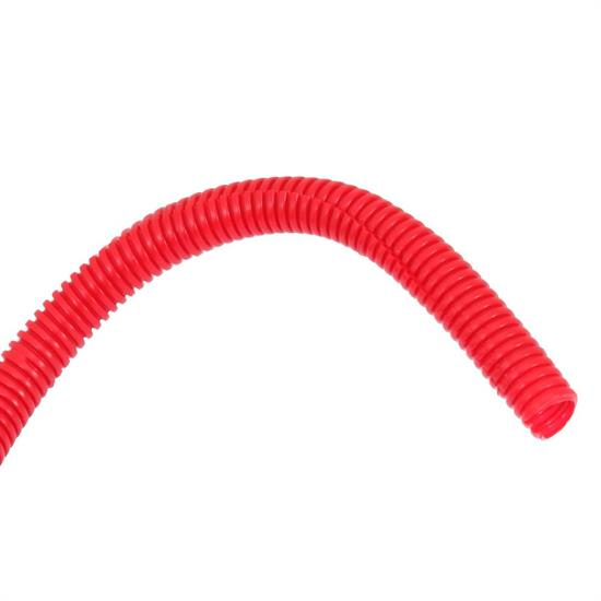 Spectre 29682 Convoluted Wire Loom Tubing, Red, 3/8 Inch x 8 Ft.