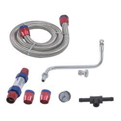 Spectre 2990 Holley Fuel Unit Line Kit, Holley 4160, 1/8 In Gauge Port