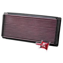 K&N 33-2023 Lifetime Performance Air Filter, Ford 4.9L-7.5L, VW 1.8L