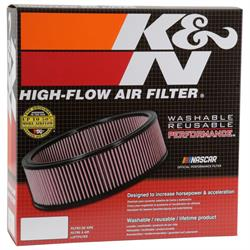K&N E-3700 Lifetime Performance Air Filter, 4in Tall, Round
