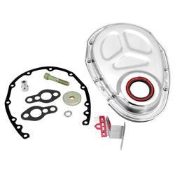 Spectre 42355 Timing Cover Kit, Chrome, Small Block Chevy
