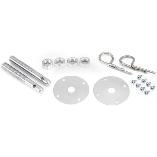 Spectre 42563 Hood Pin Kit, Hairpin Style, Stainless Steel