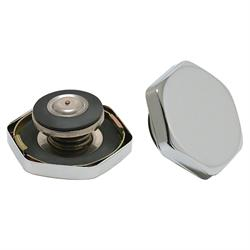 Spectre 4338 Hexagon Chrome Radiator Cap, 14-18 PSI, Each