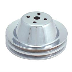 Spectre 4378 Chrome Water Pump Pulley, Chevy 265-350, GMC 283-327