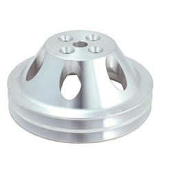 Spectre 4379 Billet Water Pump Pulley, Chevy 265-350, GMC 283-327