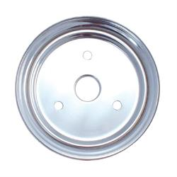 Spectre 4388 Chrome Crankshaft Pulley, Chevy 265-350, GMC 283-327