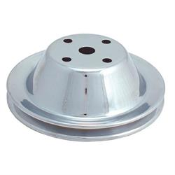 Spectre 4408 Chrome Water Pump Pulley, Chevy 262-400, GMC 305-400