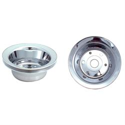 Spectre 4428 Chrome Crankshaft Pulley, Chevy 262-400, GMC 305-400