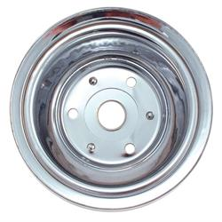 Spectre 4448 Chrome Crankshaft Pulley, Chevy 262-400, GMC 305-400