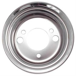 Spectre 4478 Chrome Crankshaft Pully, Chevy 265-427, GMC 283-396