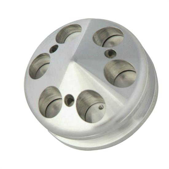 Spectre 4528 Aluminum Alternator Pulley, Single Groove, GM/Ford, Each