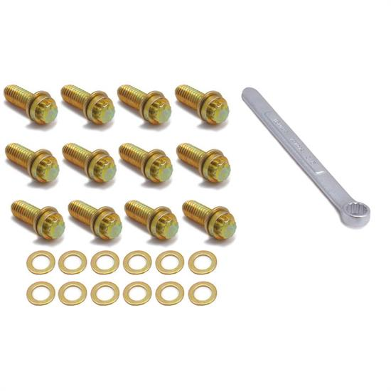 Spectre 46523 Intake Bolt Kit, 12-Point, Small Block Chevy/Chrysler