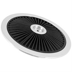 Spectre 47611 Extraflow Air Cleaner Top, Black, 1in Tall, Round Lid