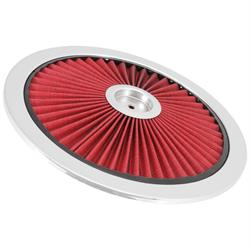 Spectre 47612 Extraflow Air Cleaner Top, Red, 1in Tall, Round Lid