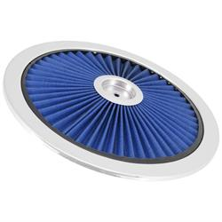 Spectre 47616 Extraflow Air Cleaner Top, Blue, 1in Tall, Round Lid