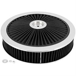 Spectre 47621 Extraflow Air Filter Assembly, 3in Tall, Black, Round