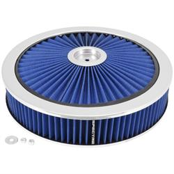 Spectre 47626 Extraflow Air Filter Assembly, 3in Tall, Blue, Round