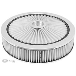 Spectre 47628 Extraflow Air Filter Assembly, 3in Tall, White, Round