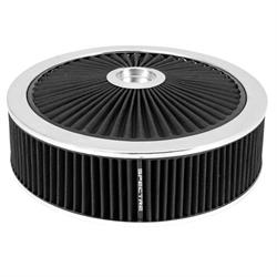 Spectre 47631 Extraflow Air Filter Assembly, 4in Tall, Black, Round