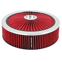 Spectre 47632 Extraflow Air Filter Assembly, 4in Tall, Red, Round