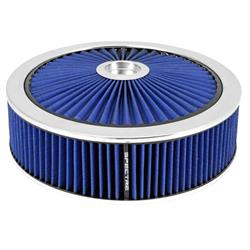 Spectre 47636 Extraflow Air Filter Assembly, 4in Tall, Blue, Round